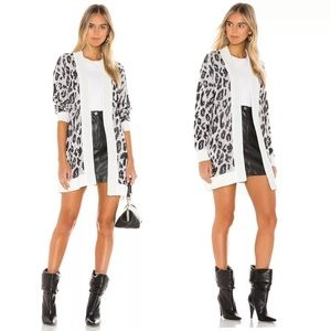 Revolve BB Dakota Leopard Print Long Line Carigan